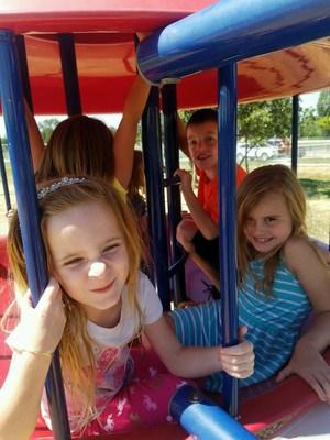 Students playing outside at Florida Mesa.