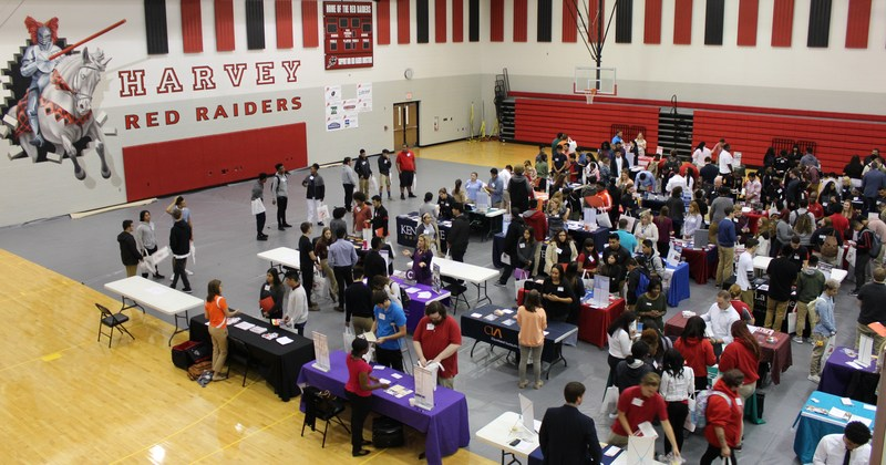 Harvey Guidance Department Holds College Fair With More Than 45 Colleges Represented Thumbnail Image