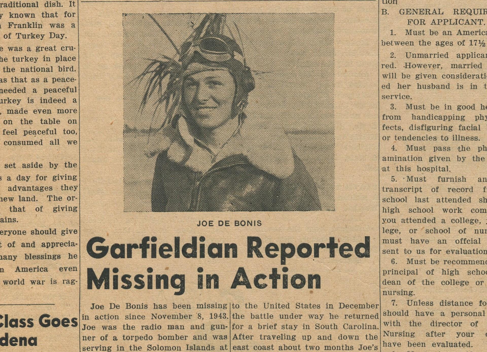 Garfieldian missing in action