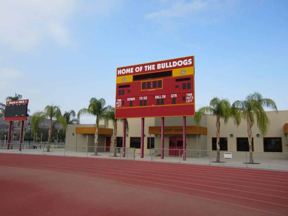 Hemet High School New Score Board