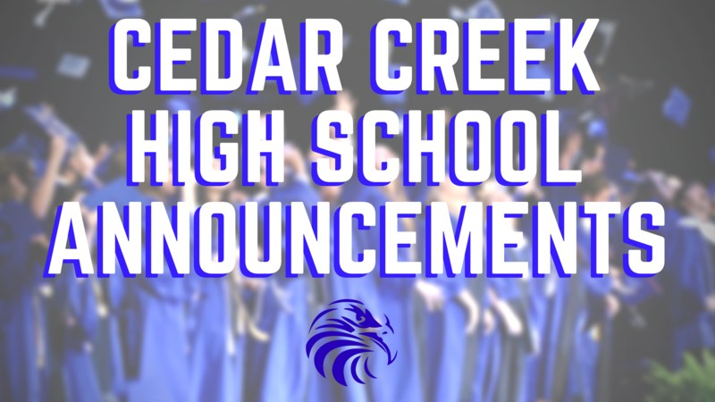 CCHS Announcements