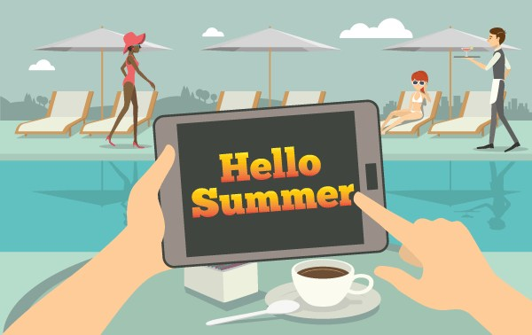 Hello Summer on Tablet