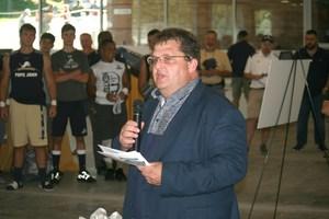 Craig Austin speaking at PTC dedication