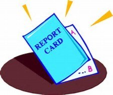Clipart of front of a report card