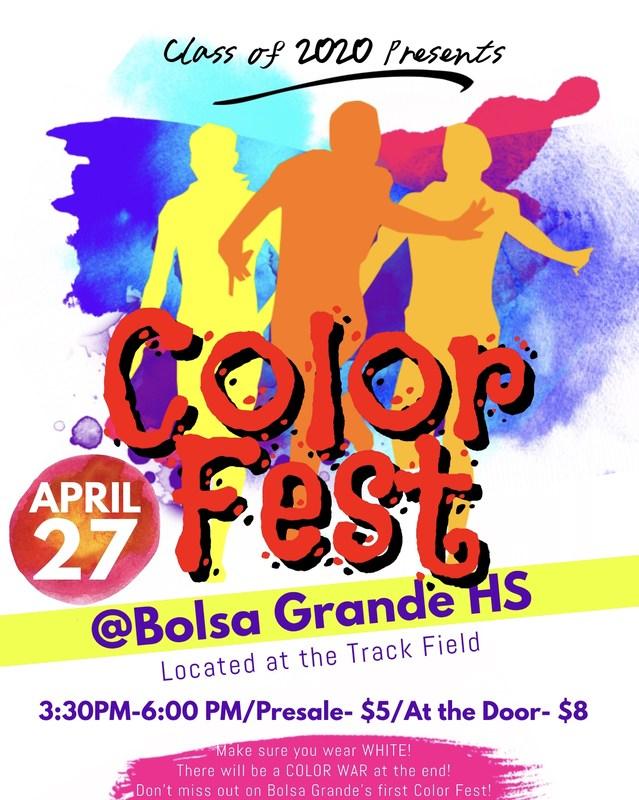 Color Fest - Friday, April 27 @ 3:30pm Thumbnail Image
