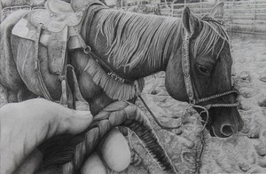 Zen McKenzie was awarded $20,000 from the Houston Livestock Show and Rodeo Art Scholarship for her artwork