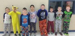 Pajama for Pennies dress-up day.