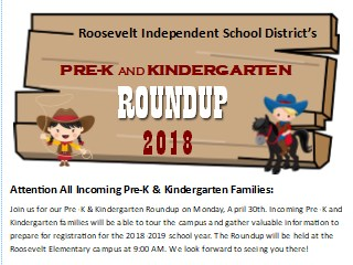 Picture of Pre-K & Kinder Roundup Information Sheet