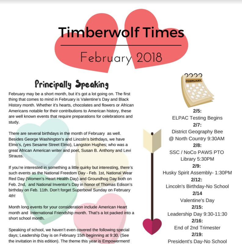 February Newsletter Cover Page