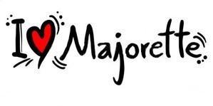 I Love Majorettes Text Image