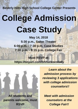 Admissions Case Study Flyer