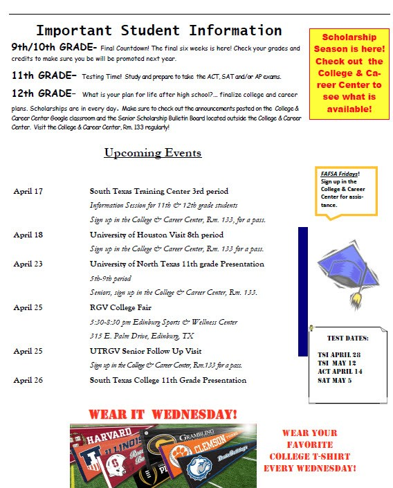 College and Career Center Newsletter page 2