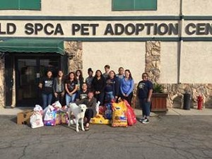 GVHS students in front of the Bakersfield SPCA