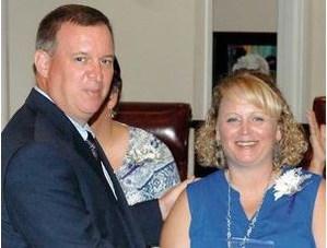 Superintendent, Mark Byrd and Angel Bell, HOPE Award Winner