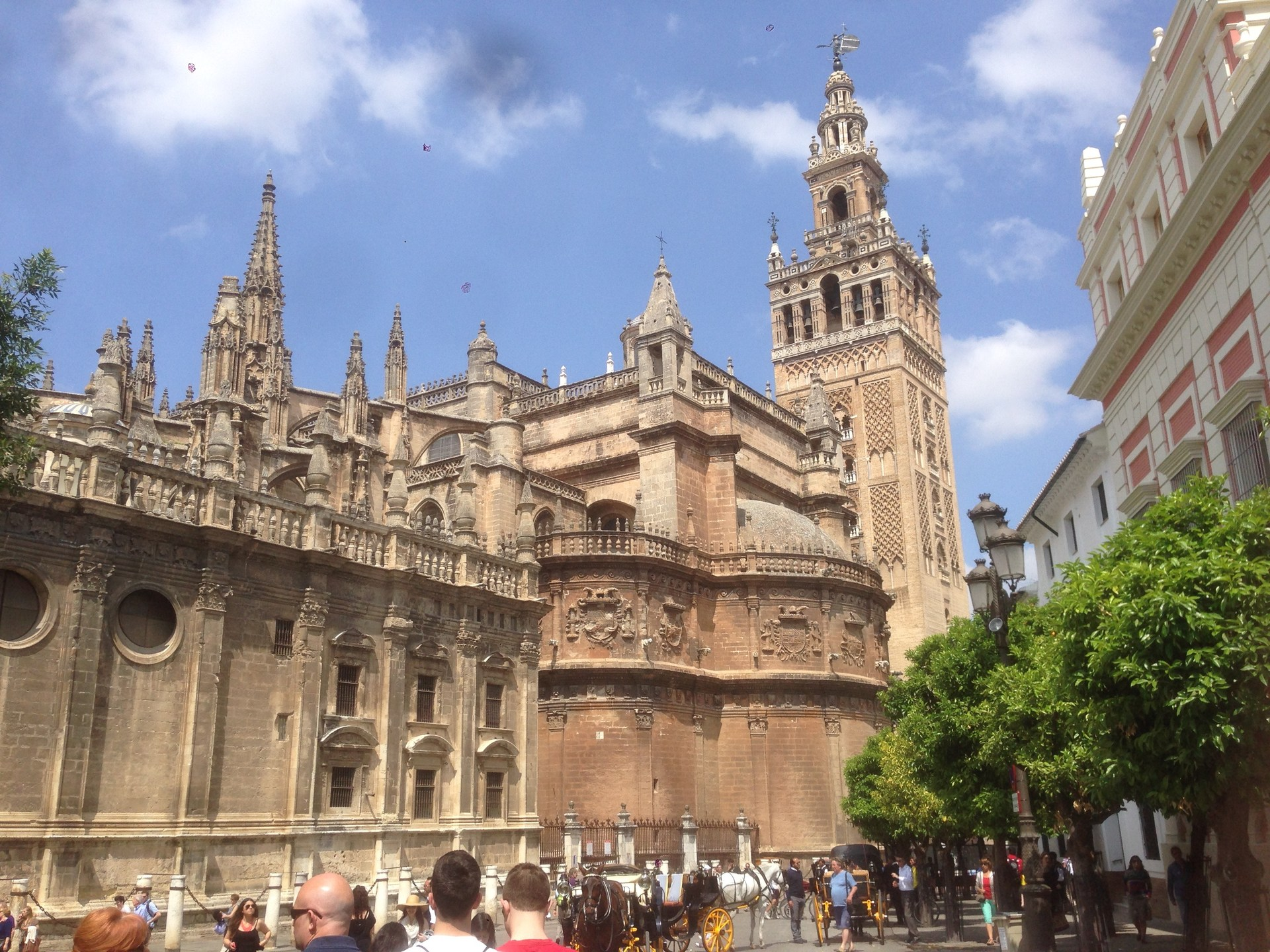 A beautiful cathedral in Sevile, Spain