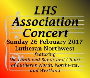 Lutheran High School Association Concert.