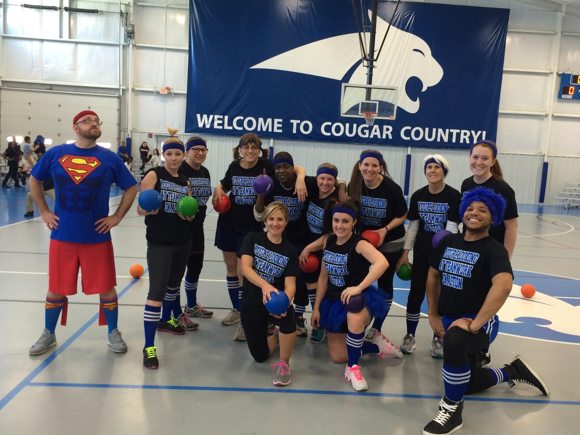 2015 Staff V. Student Dodgeball Victors - the teachers!