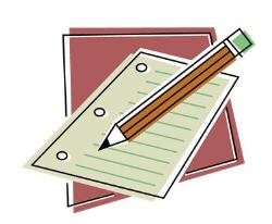 Clip art image paper and pencil