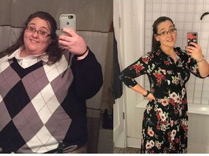 Ms. May before and after