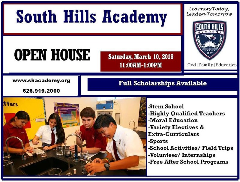 SOUTH HILLS ACADEMY                                                                                                                                                                                                                             OPEN HOUSE Featured Photo