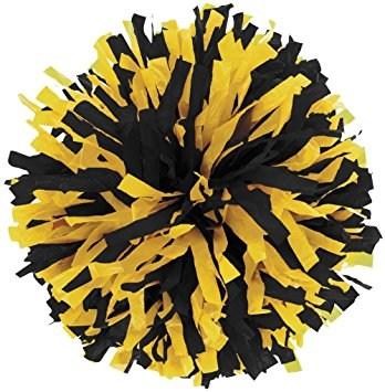 Black & Gold Pom Pom