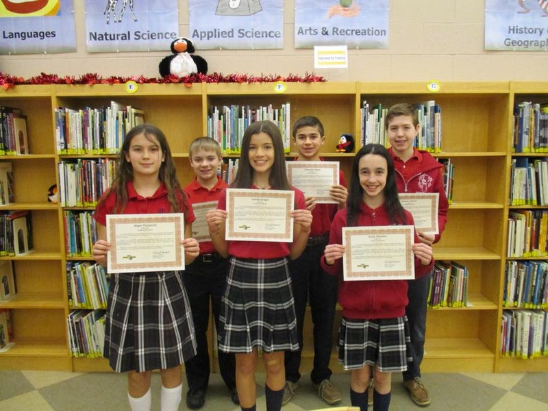 Middle School Students of the Month Featured Photo