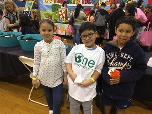 2nd graders by their projects