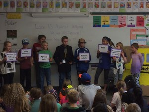 Mrs. Clancy's students in skit.