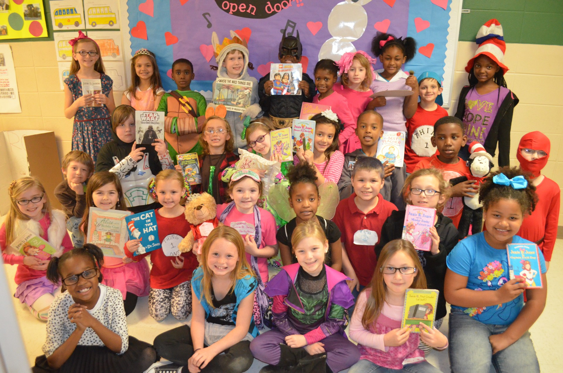 BES students portray various book characters for their book reports.