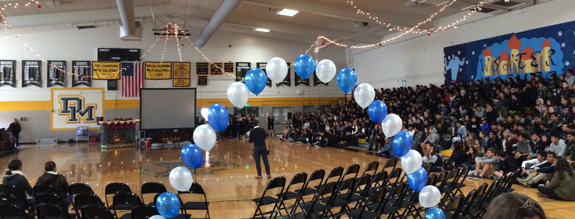 Image of school gym during 2017 winter wishes event