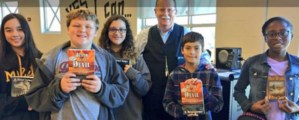 Local author W. Michael Farmer visits Smithfield Middle School