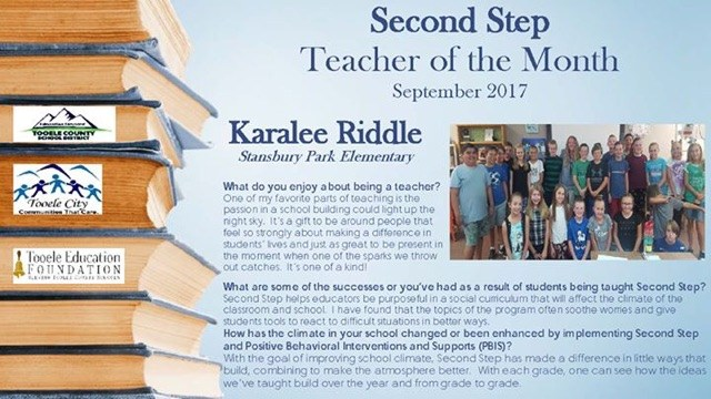 Second Step Teacher of the Month Thumbnail Image