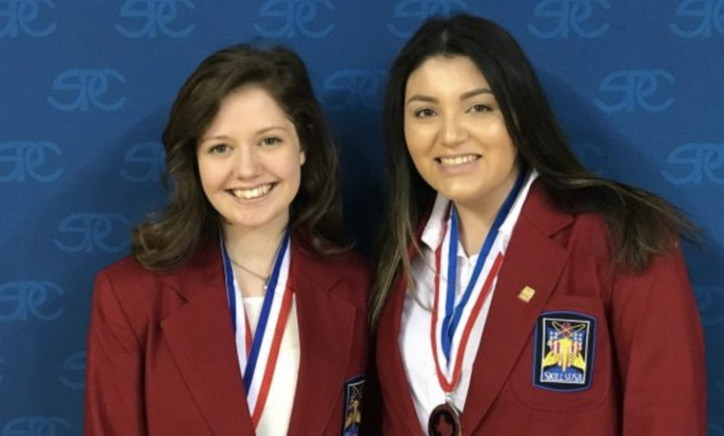 Two SkillsUSA Participants with Medals