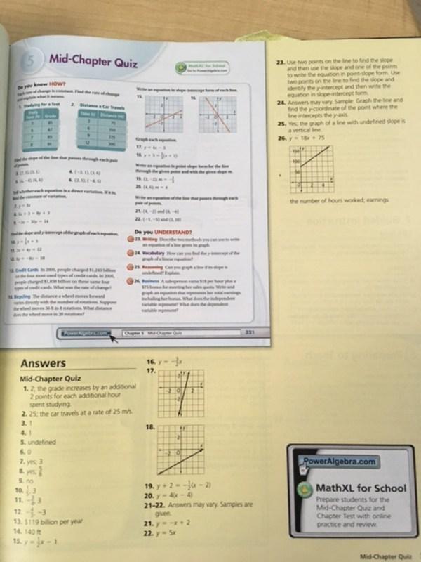 Algebra 1 Quiz 26