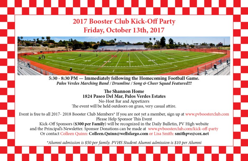 Booster Club Kick-Off Party! Thumbnail Image