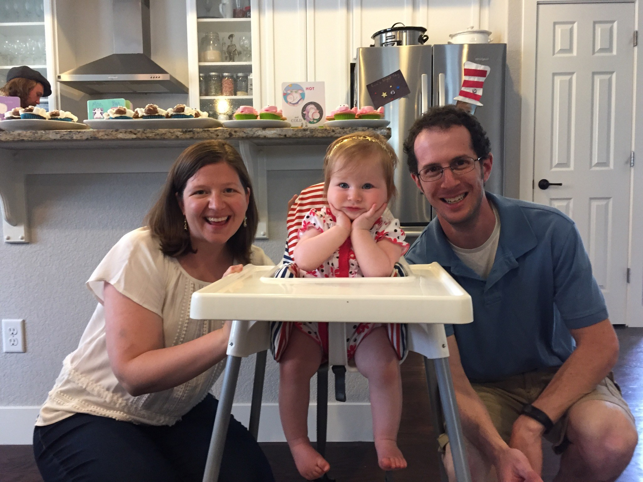 My family on my daughter's first birthday.