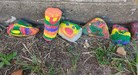 Stones painted by the students of Cannan.