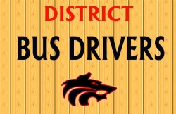 Bus Drivers Needed and Wolf Logo
