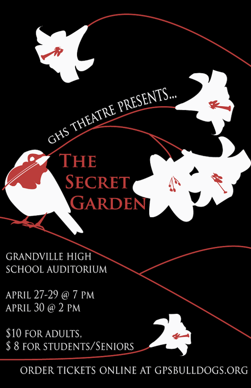 The Secret Garden will be April 27-30 $10 for tickets or $8 for students and seniors