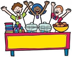 clip art of ladies serving lunch