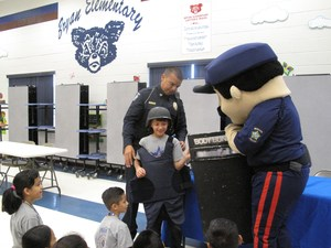 Mission PD presenting to students.