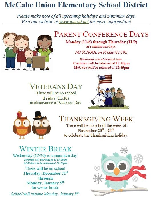 Fall & Winter Holidays Flyer Thumbnail Image