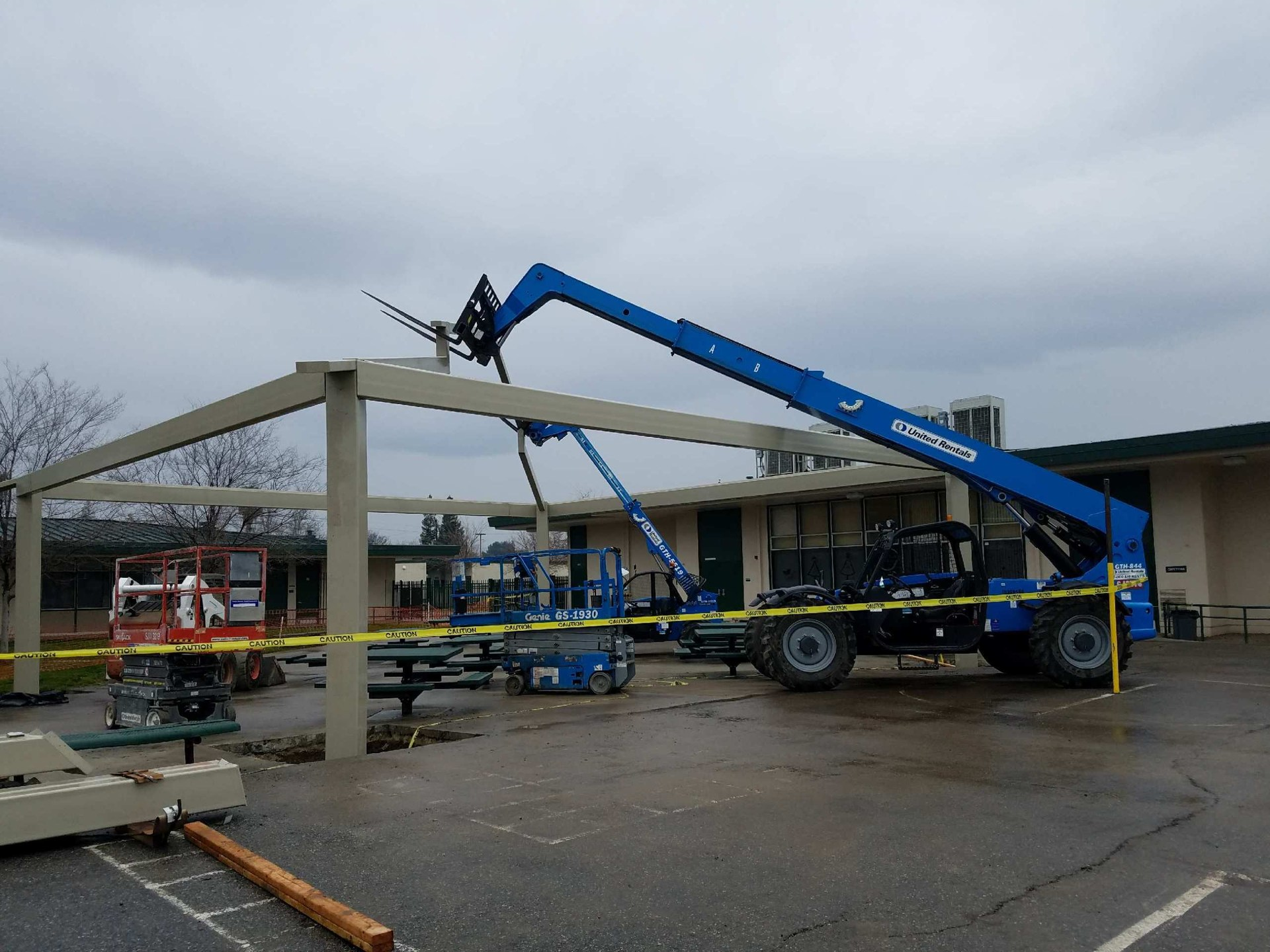 New Kennedy Elementary Shade Structure in Progress