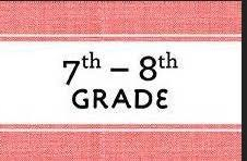 7th and 8th grade sign