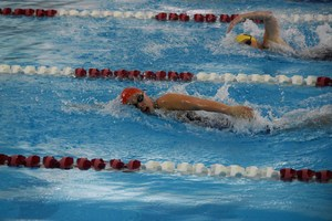 swimmer competing