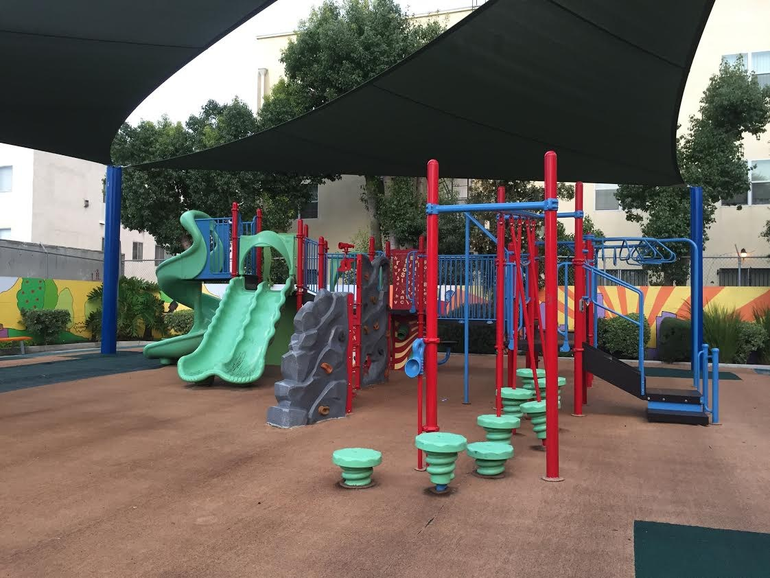 Image of our play apparatus at flagship campus.