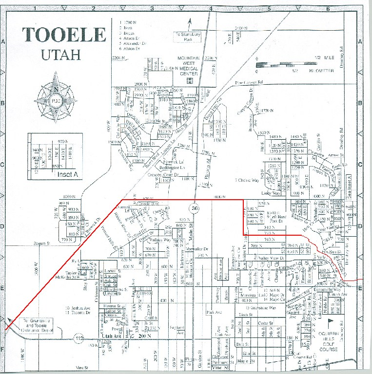 Tooele County School District boundary map