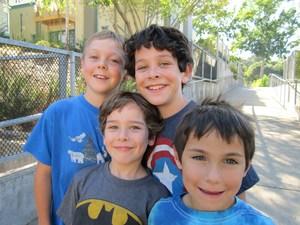 Four Happy Students