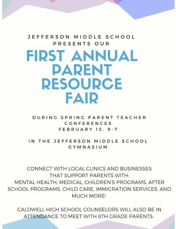 First Annual Resource Fair at JMS!! Thumbnail Image