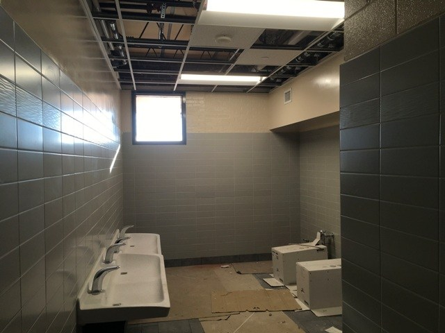 Photo of Springdale Elementary renovated restroom facility